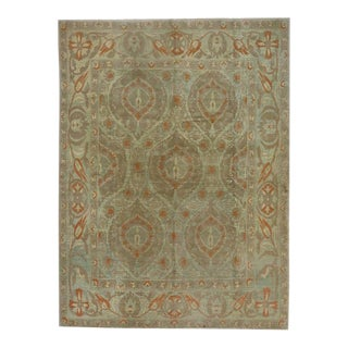 Turkish Oushak Rug With Arts & Crafts Style Inspired by William Morris - 09'11 X 13'02 For Sale