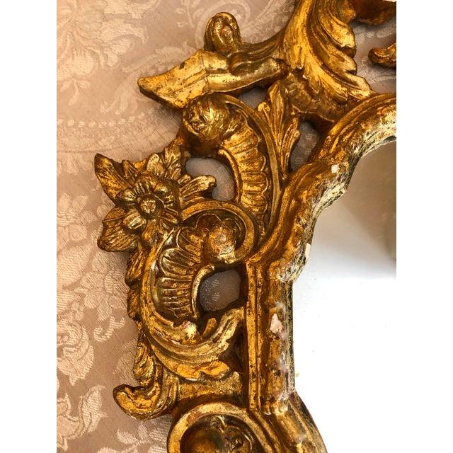 Late 19th Century Italian Cornucopia Gilt Wood Mirror, C. 1890-1930 For Sale - Image 5 of 13