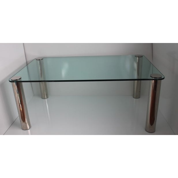 Pace Dining Table With Chrome Legs and Glass Top - Image 10 of 10