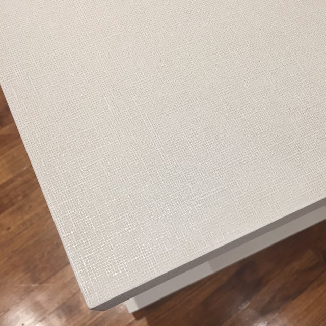Linen Bungalow 5 Linen Side Tables- a Pair For Sale - Image 7 of 12