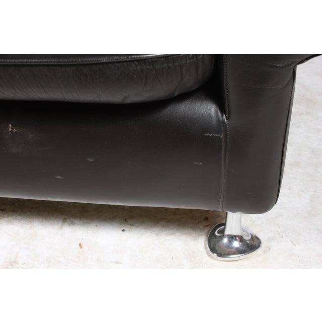 Danish Retro Black Sofa - Image 4 of 6