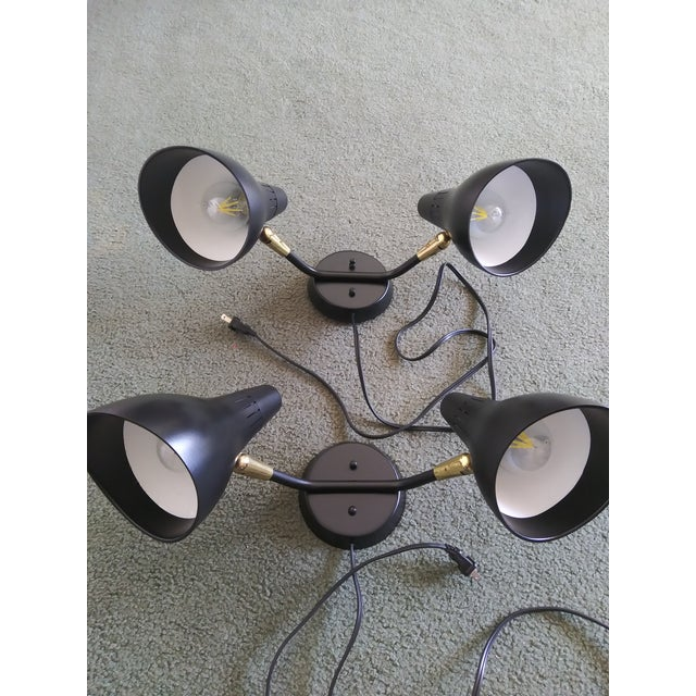 Metal 1950s Mid-Century Modern Gerald Thurston for Lightolier Wall Sconces - a Pair For Sale - Image 7 of 13
