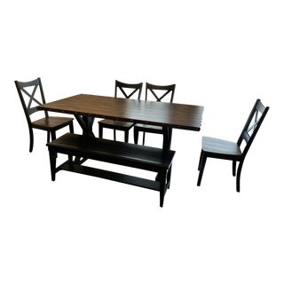 Farmhouse Style Dining Room Set For Sale