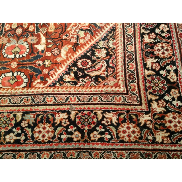 Persian Mahal Sultanabad Red and Auburn Wool Rug - 9′ × 12′5″ For Sale - Image 4 of 7