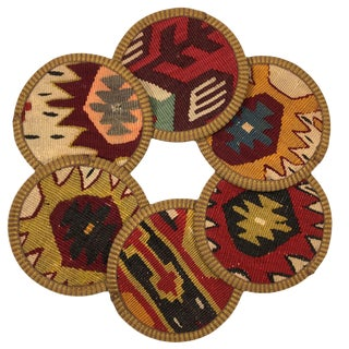Kilim Coasters Set of 6 | Kapılar For Sale