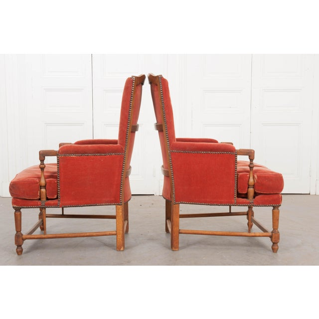 Wood 19th Century French Provincial Walnut Fauteuils - a Pair For Sale - Image 7 of 10