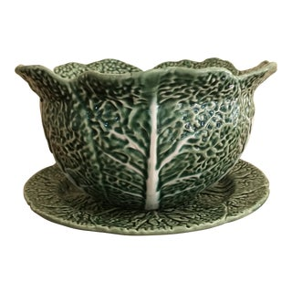 1970s Vintage Bordallo Pinheiro Centerpiece Bowl For Sale