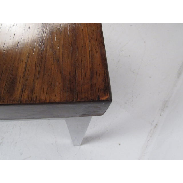 Milo Baughman Style Coffee Table For Sale - Image 10 of 12