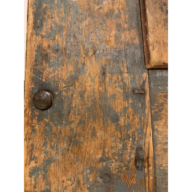 Brown 19th Century Patinaed Wooden Trunk For Sale - Image 8 of 12
