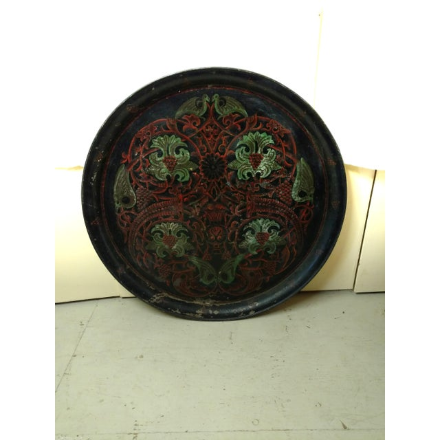 Antique Anglo Indian Huge Festival Wedding Tray For Sale - Image 9 of 9