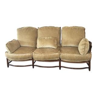 Custom Country Rush Wood Sofa Bench