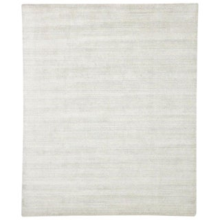 Transitional Light Gray Area Rug - 8′2″ × 9′10″ For Sale
