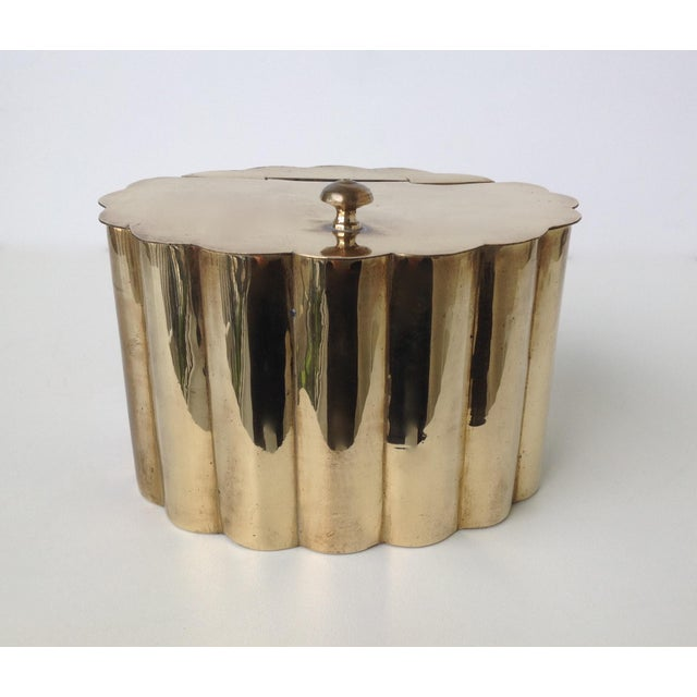 Brass Moorish-Style Tea or Biscuit Container For Sale - Image 11 of 11