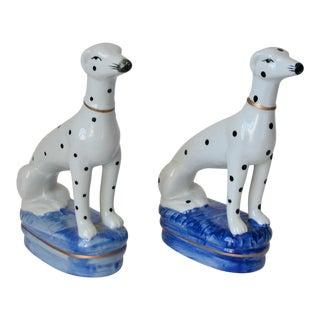 Ceramic Dalmatian Figures - a Pair For Sale