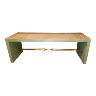 Modern History Faux Shagreen Cocktail Table