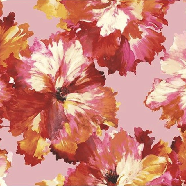 Carl Robinson Bristol Pink Floral Wallpaper For Sale
