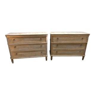 Pair of Swedish Style Three-Drawer Commodes, Chests or Nightstands For Sale