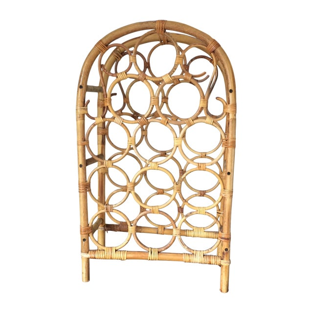 Vintage Bamboo Wine Rack - Image 1 of 11