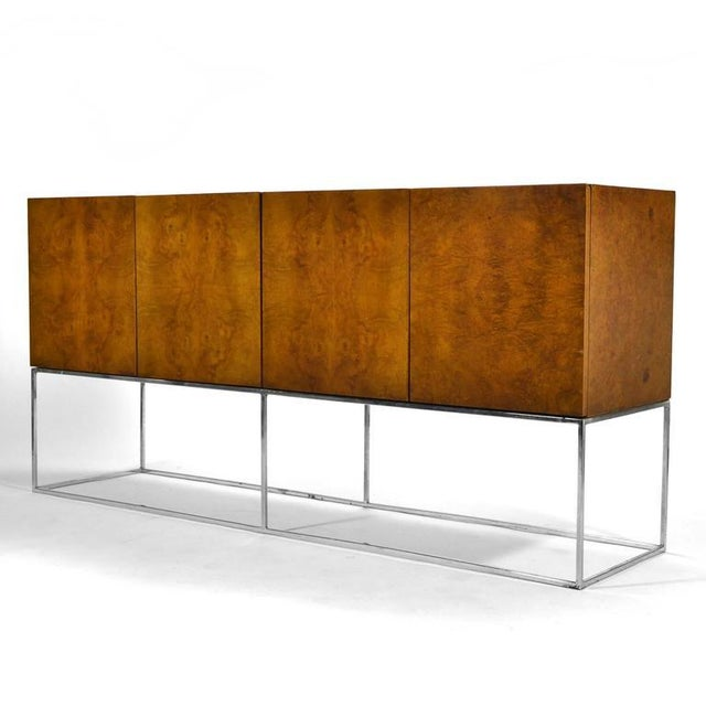 Milo Baughman Olive Ash Burl Credenza by Thayer Coggin For Sale In Chicago - Image 6 of 10