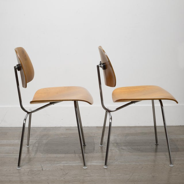 Mid-Century Modern Early Ray and Charles Eames for Herman Miller Dcm Chairs, Circa 1950- Price Is Per Chair For Sale - Image 3 of 13