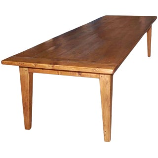 Expandable Harvest Table in Reclaimed Pine, Built to Order by Petersen Antiques For Sale