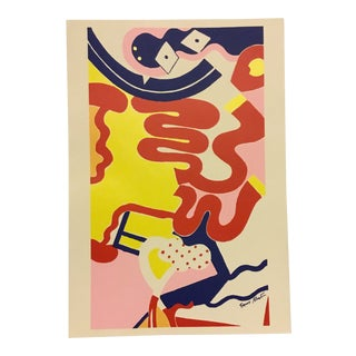 Knox Martin Abstract Lithograph For Sale