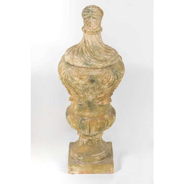 Ceramic Terracotta Covered Garden Urns - a Pair For Sale - Image 7 of 8