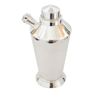 1930s Art Deco Silver-Plated Cocktail Shaker