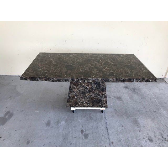 Maurice Villency Style Marble Dining Table For Sale - Image 10 of 13