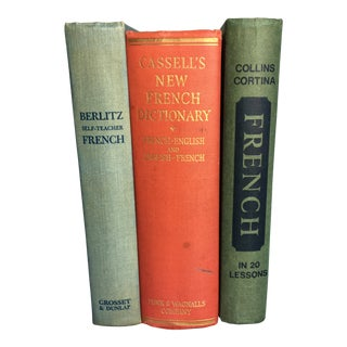 Set of 3 Mid-Century French Books For Sale