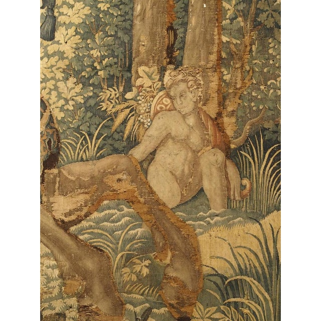 Metal Large 17th Century Flanders Tapestry Depicting a Roman Scene For Sale - Image 7 of 13
