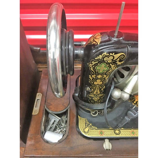 Brown Greyhound Electric Portable Sewing Machine For Sale - Image 8 of 10