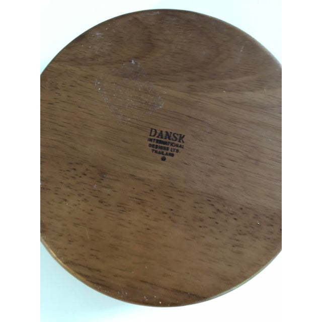 Vintage Danish teak serving tray bowl by Dansk International. The bowl has a few nicks consistent with age, but otherwise...