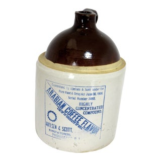 Antique Stoneware Arabian Coffee Flavor Jug For Sale