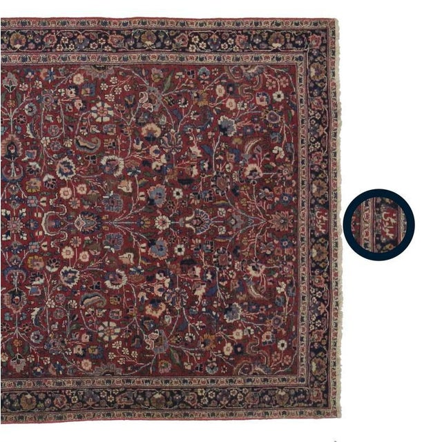 Antique Persian Mashad Extra Long Hallway Runner- 5'7 X 22'00 For Sale - Image 4 of 9
