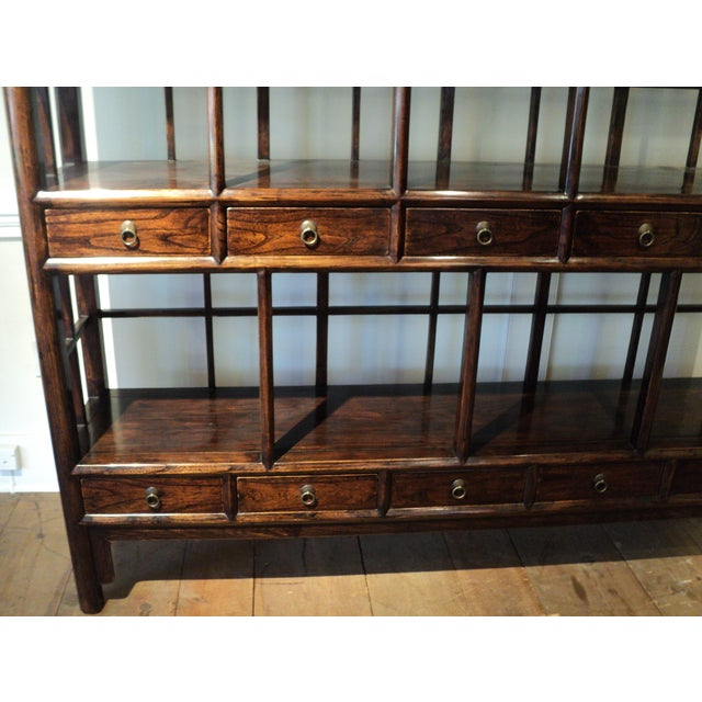 Large Antique Chinese Solid Wood Multi Drawer Etagere - Image 4 of 11