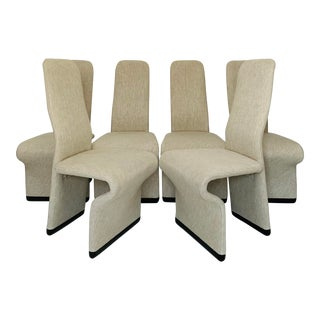 1970s Vintage Jan Ekselius High Back Sculptural Dining Chairs - Set of 6 For Sale