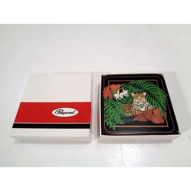 Vintage Pimpernel Lynn Chase Jaguar Drink Coasters- S/6 For Sale - Image 4 of 9