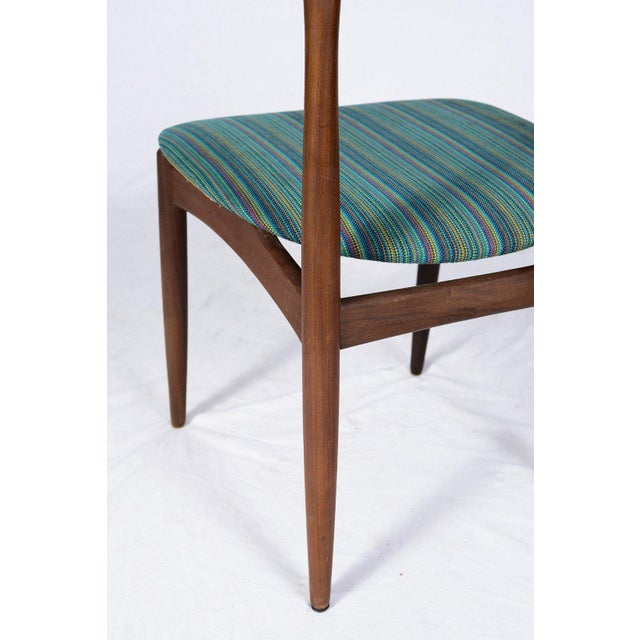 Teal Set of Four Danish Dining Chairs For Sale - Image 8 of 10