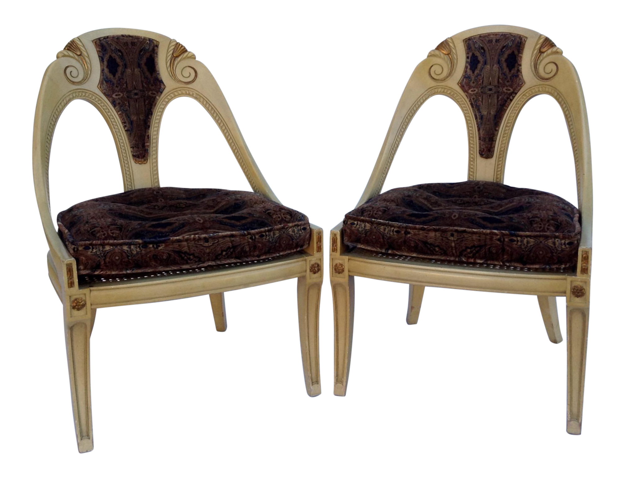 Genial Michael Taylor For Baker Furniture Spoon Back Chairs   A Pair   Image 1 Of  11