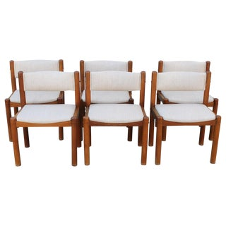 Six Danish Dining Chairs For Sale