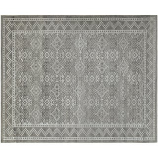 Contemporary Silver-Gray Rug - 4′ × 6′2″ For Sale