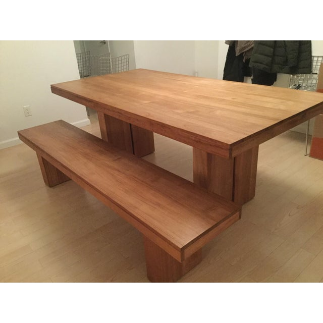 Kayu Teak Dining Table And Bench Chairish