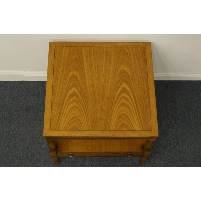 "Drexel Drexel Heritage Triune Collection Mahogany 26"" Square End Table For Sale - Image 4 of 13"