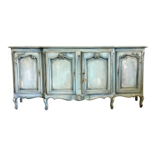 Antique Painted Louis XV Style French Provincial Buffet
