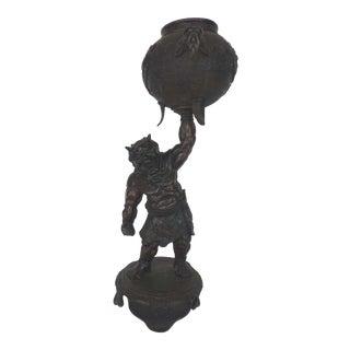 Antique Japanese Incense Burner Sculpture For Sale