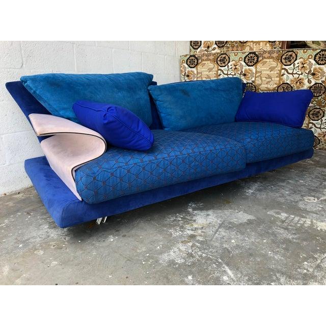 A truly spectacular Post Modern Memphis Style Sofa designed by Giorgio Saporiti for IL Loft S.p.A., Italy, circa 1980's....