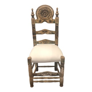 18th Century Portugese Throne Side Chair