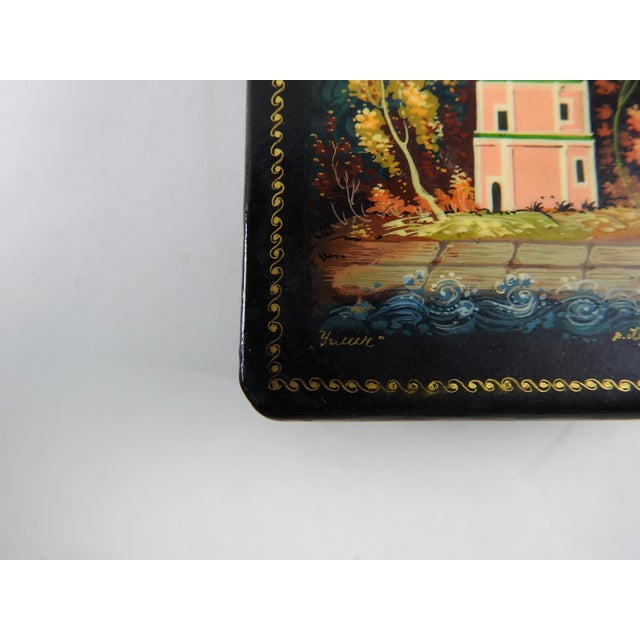 Hand Painted Russian Lacquer Box - Image 4 of 7