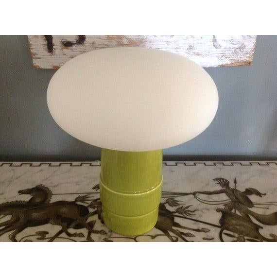 Italian Green Italian Mushroom Lamp, Italy C.1960 For Sale - Image 3 of 6